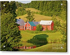 Jenne Farm Reflection Acrylic Print by Susan Cole Kelly