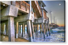Jennette's Pier Acrylic Print by Scott and Dixie Wiley