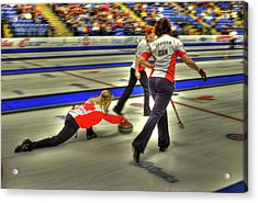 Jennifer Jones Throws Acrylic Print