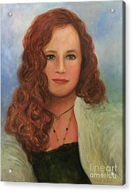 Acrylic Print featuring the painting Jennifer by Randol Burns