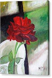 Jennifers Rose Acrylic Print by Madeleine Prochazka