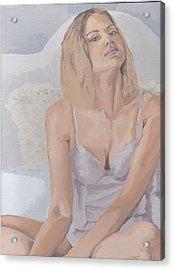 Jenny In White Acrylic Print