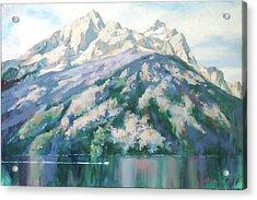 Jenny Lake Acrylic Print by Carol Strickland