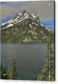 Jenny Lake Wood Panels Acrylic Print