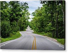 Jens Jensen's Winding Road Acrylic Print