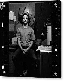 Self Portrait, In Darkroom, 1972 Acrylic Print