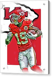Jeremy Maclin Kansas City Chiefs Oil Art Acrylic Print