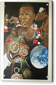 Jermain Taylor Montage Acrylic Print by Angelo Thomas