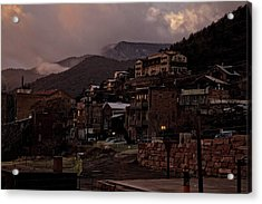 Jerome On The Edge Of Sunrise Acrylic Print