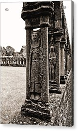 Jerpoint Abbey Cloister Stone Figures Acrylic Print