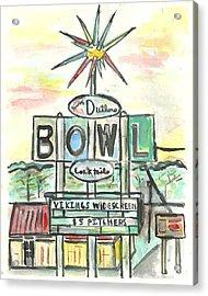 Jerry Dutler's Bowl Acrylic Print by Matt Gaudian