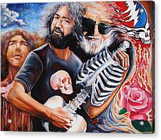 Jerry Garcia And The Grateful Dead Acrylic Print