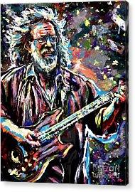 Jerry Garcia Art Grateful Dead Acrylic Print by Ryan Rock Artist