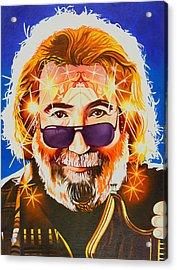 Acrylic Print featuring the painting Jerry Garcia-dark Star by Joshua Morton