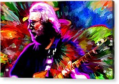 Jerry Garcia Grateful Dead Signed Prints Available At Laartwork.com Coupon Code Kodak Acrylic Print by Leon Jimenez