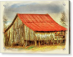 Acrylic Print featuring the photograph Jerry's Barn by Barry Jones