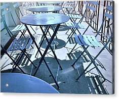Jersey City Cafe Acrylic Print by JAMART Photography