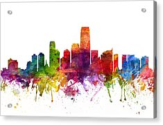 Jersey City Cityscape 06 Acrylic Print by Aged Pixel