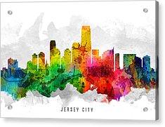 Jersey City New Jersey Cityscape 12 Acrylic Print
