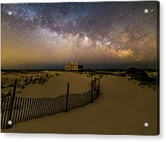 Jersey Shore Starry Skies And Milky Way Acrylic Print