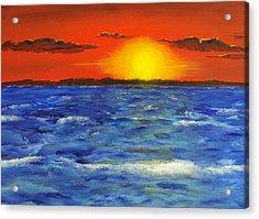 Jersey Shore Sunset Acrylic Print