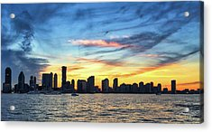 Acrylic Print featuring the photograph Jersey Skyline by David A Lane