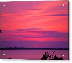 Acrylic Print featuring the photograph Jersey Sunset by Susan Carella
