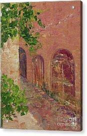 Jerusalem Alleyway Acrylic Print