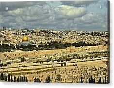 Jerusalem Awaits Her King II Acrylic Print by Deb Cohen