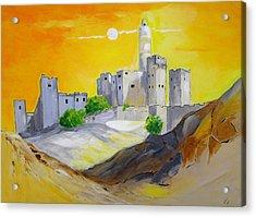 Jerusalem City Of Gold Acrylic Print