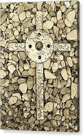 Jerusalem Cross In Sepia Tone Acrylic Print by Deborah Montana