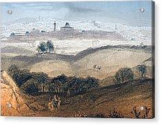 Jerusalem Engraved By A.h. Payne After Acrylic Print