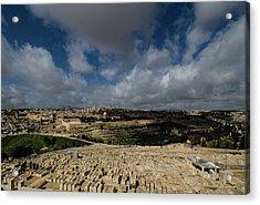 Jerusalem From Mount Of Olives Acrylic Print