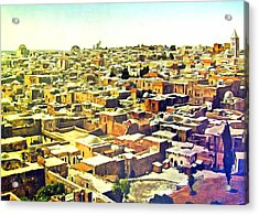 Jerusalem From The Tower Of Antonia Acrylic Print by Munir Alawi
