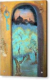 Jerusalem Key Acrylic Print by Munir Alawi