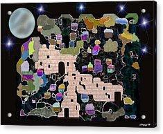 Jerusalem Moon Acrylic Print by Sher Magins