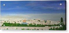 Jerusalem Skyline Acrylic Print