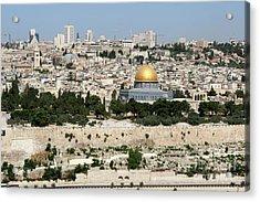 Acrylic Print featuring the photograph Jerusalem Skyline by Steven Frame