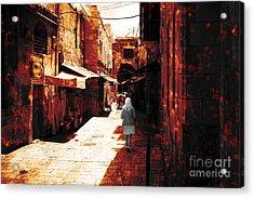 Jerusalem Walk Tote Bag Acrylic Print