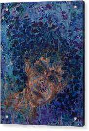Jess In Blue Acrylic Print by Cathy Minerva