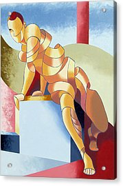 Jesse - Abstract Acrylic Figurative Painting Acrylic Print