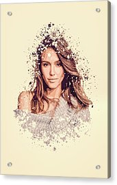 Jessica Alba Splatter Painting Acrylic Print
