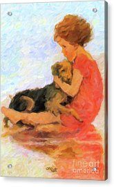 Jessie And Me Acrylic Print by Chris Armytage