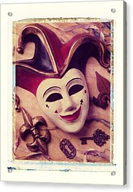 Jester Mask Acrylic Print by Garry Gay