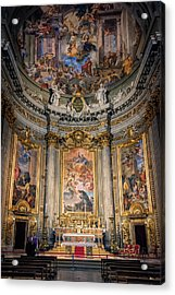 Acrylic Print featuring the photograph Jesuit Church Rome Italy by Joan Carroll
