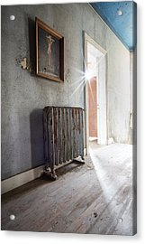 Jesus Above The Heater - Abandoned Building Acrylic Print