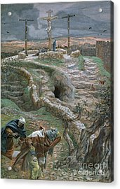 Jesus Alone On The Cross Acrylic Print by Tissot
