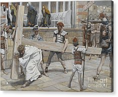 Jesus Bearing The Cross Acrylic Print by Tissot