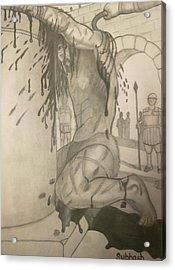 Jesus Being Beaten Acrylic Print by Subhash Mathew
