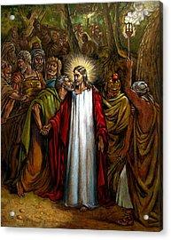 Jesus Betrayed Acrylic Print